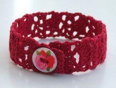 Lacy crochet bracelet