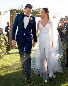 Bryan Greenberg & Jamie Chung Wedding - Monique Lhuillier dress