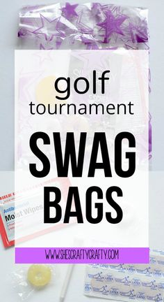 golf tournament swag bags