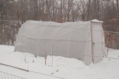 collapsed greenhouse - rescued.  also see his $50 green house for the instructions to build.  This is the fix for snow