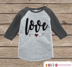 Kids Valentines Outfit   Love Script Valentineu0027s Day Shirt Or Onepiece   Boy  Or Girl Valentine
