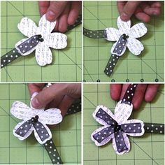 A ribbon flower embellishment for a special card.