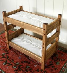 American Girl bunk beds. Will also fit most 18 inch dolls #AmericanGirl, #AGFurniture