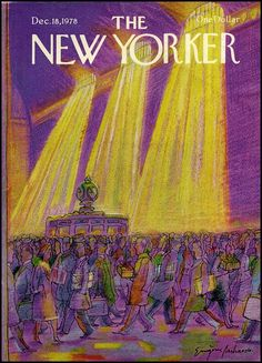 New Yorker Cover/purple and gold