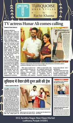 It's all over the news,  our beautiful client Ms Hunar Hale TV Actress @hunarhale will be getting engaged in our dress.  Thanks.  We at @turquoise_by_rachit @rachit_khannaa are delighted.  #turquoiseuberstyles #Turquoise_by_rachit #RachitKhanna #hunarhale #abhishekgandhi #engagement #bollywood #tv #colours #couture #fresh #wedding #indianfashion #indiandesigner #bridal #trousseau #indianwear #indianwedding #mumbai