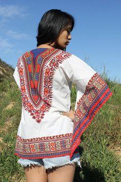 vintage bohemian gypsy dashiki tunic