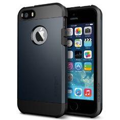 Amazon.com: SPIGEN SGP SGP10490 Tough Armor Case for iPhone 5/5S - Carrying Case - Retail Packaging - Metal Slate: Cell Phones & Accessories...