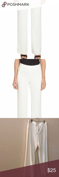 Tape measure off white dress pants Euc 16 Beautiful good condition some balling on bottom price reflects this issue  tag for exposure Adrianna Papell Pants