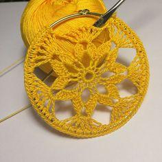 ONE Crochet Earrings Pattern, Earring pattern, PDF File – Crochet openwork hoop earrings – PDF, pattern for advanced crocheters - Tatting Ideen 2019 Crochet Pattern Free, Crochet Jewelry Patterns, Crochet Earrings Pattern, Crochet Accessories, Crochet Motif, Crochet Flowers, Crochet Hooks, Crochet Wall Hangings, Thick Yarn