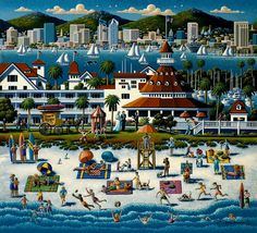 San Diego by Eric Dowdle now available as a Dowdle Puzzle at DowdlePuzzles.com