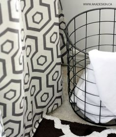 Decor Hack - Curtains as a Shower Curtain - http://akadesign.ca/decor-hack-curtains-as-a-shower-curtain/