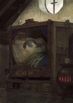 Nap time # 2, Victorin Ripert on ArtStation at https://www.artstation.com/artwork/rP31G