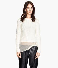 White Sheer H&M Mesh Top $18