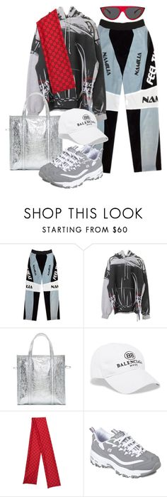 """""""Sans titre #1091"""" by a4styled ❤ liked on Polyvore featuring Balenciaga, Skechers, Oliver Peoples and A4STYLED"""