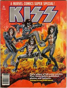 Olaf Sings: Music History Today: June 30, 2020 Ralph Macchio, Paul Stanley, Gene Simmons, Old Comics, Vintage Comics, Comic Book Publishers, Comic Books, Kiss Army, Los Kiss