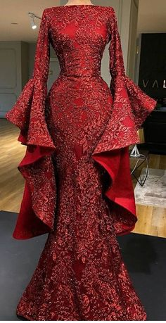 Gorgeous Affordable Long Sleeves Mermaid Evening Long Prom Dresses, – New Dresses African Fashion Dresses, African Dress, Elegant Dresses, Pretty Dresses, Affordable Dresses, Hijab Dress Party, Prom Dresses, Formal Dresses, Long Dresses