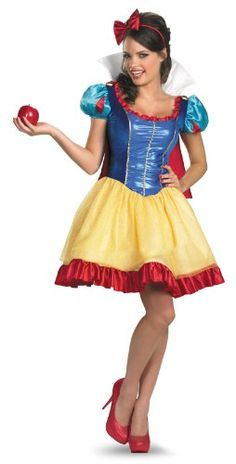 Disguise Disney Deluxe Sassy Snow White Costume YellowRedBlue Small46 >>> Click image for more details.