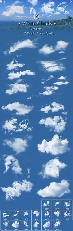 White Clouds Brushes - Brushes Photoshop