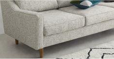 Dallas 3 Seater Sofa, Basketweave Grey   MADE.com 3 Seater Sofa, Basket Weaving, Love Seat, Dallas, Couch, Living Room, Grey, Furniture, Home Decor
