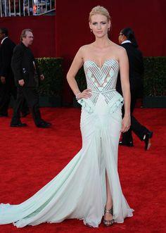 January Jones - Art Deco Dress 2009 Emmy Awards