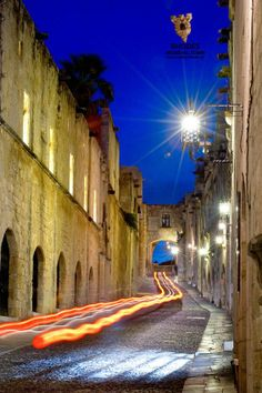 Through the night in Medieval Town, Medieval Castle, Start Pack, Green Valley, Das Hotel, Lush Green, Rhode Island, Greece Holidays, Summer Travel