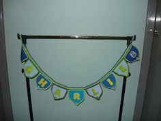 Name pennant for 'Charlie' made in cotton Hugs, Blanket, How To Make, Cotton, Big Hugs, Blankets, Cover, Comforters