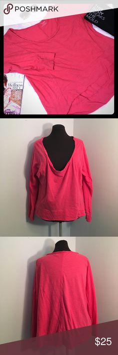 {NEW} LANE BRYANT Coral Slouchy Pullover Top Slouchy style pull over top. Long sleeves. Deep neck that can be worn off the shoulder for an asymmetrical looks. Lane Bryant size: 14/16. EUC.  ▪REASONABLE OFFERS WELCOMED or BUNDLE FOR 15% OFF!▪️ Lane Bryant Tops