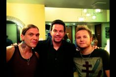 Brent smith, Mark Whalberg, and zach myers