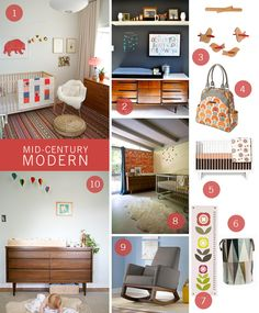 Inspiration and tips for creating a Mid-Century Modern nursery! | Petunia Pickle Bottom Blog