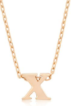 Rose Gold Bonded Simple X Initial Pendant