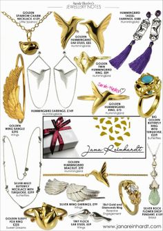 Stylist, Sarah-Hayley Owen, provides ideas, design, websites and style concepts for small luxury fashion and lifestyle brands. Big Butterfly, Golden Ring, Ear Studs, Tassel Necklace, September, Bangles, Bling, Notes, Charmed