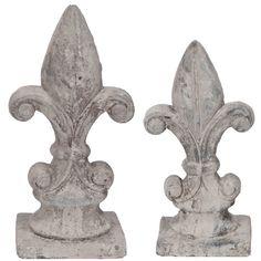 $21.5 {French Cottage} White Washed Ceramic Finial, Set Of 2 ~Enjoy one decor deal a day from WUSLU ~www.wuslu.com