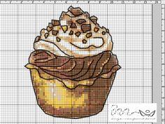 Cupcake Cross Stitch, Cross Stitch Fruit, Cross Stitch Kitchen, Cross Stitch Needles, Cross Stitch Gallery, Cross Stitch Designs, Cross Stitch Patterns, Cross Stitching, Cross Stitch Embroidery