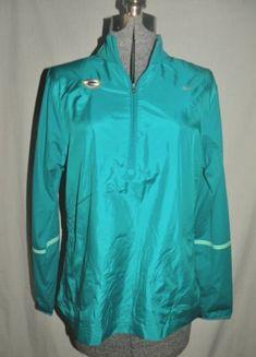 Nike Golf Green Bay Packers Large 1/2 Zip Shirt Womens Stretch Windwear