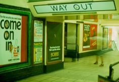 Tottenham Court Road tube station, London, England, United Kingdom, 1976, photograph by Klaus Hiltscher.