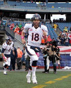 Peyton Manning new images | Peyton Manning Peyton Manning #18 of the Denver Broncos runs onto the ...