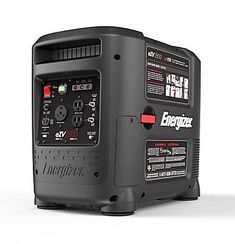 The all new Energizer® EZV2800 is a fuel-efficient, portable inverter generator powered by a 150cc single cylinder, 4-stroke OHV engine. The unit produces up to 2600 watts of clean electricity to quietly power common and sensitive electronic devices during camping trips, hunting, traveling, tailgating, light jobs around the house, and the integrated 30 amp socket makes it perfect for powering RV trailers.