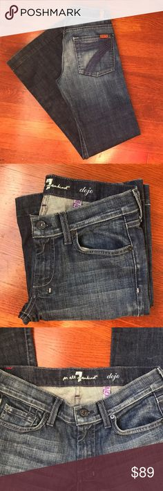 7 For All Mankind Dojo The Lexie Petite Dark Wash 7 For All Mankind Dojo The Lexie Petite Dark Wash  Waist 14.5 inches  Rise 7.5 inches  Inseam 31 inches 7 For All Mankind Jeans Flare & Wide Leg