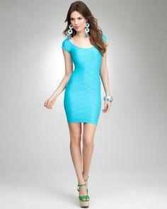 bebe Chevron Ottoman Shine Dress