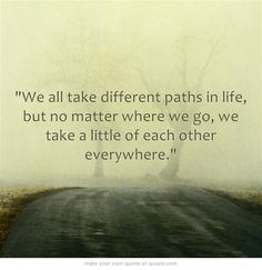 Paths in life.