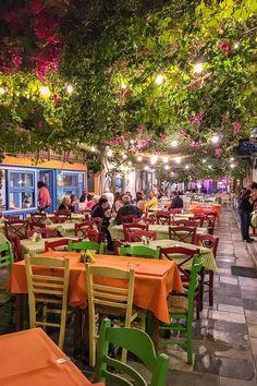 Taverna in Ermoupoli town, Syros island,Cyclades, Greece Syros Greece, Santorini Greece, Athens Greece, Menu Vintage, Greece Islands, Beautiful Places In The World, Greece Travel, Travel Inspiration, Exterior