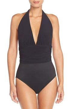 Magicsuit® 'Yves' Halter Neck One-Piece Swimsuit available at #Nordstrom