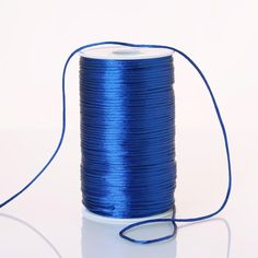 200 Yards 2mm Royal Blue Satin Rattail Cord Royal Blue Wedding Decorations, Blue Tablecloth, 200 Yards, Pew Bows, Blue Gift, Polyester Satin, Blue Satin, Party Accessories, Jewel Tones