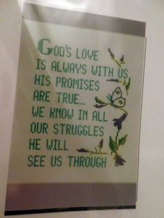 Patty Ann Creations God's Love Cross Stitch Kit #767 Religious #PattyAnnCreations #Frame Religious Cross, Cross Stitch Kits, Gods Love, Ann, Arts And Crafts, My Favorite Things, Frame, Creative, Projects