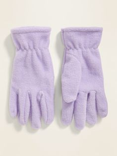 Shop Old Navy's Performance Fleece Gloves For Girls: Soft, warm Performance Fleece gloves., Elasticized wrists help keep in the warmth. Fleece Gloves, Shop Old Navy, Girls, Products, Fashion, Little Girls, Moda, Daughters, La Mode