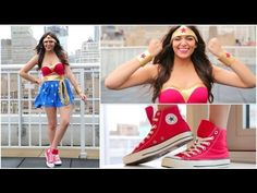 DIY Wonder Woman Halloween Costume! If you don't already subscribe to Bethany on youtube, go subscribe to both of her channels right now at macbarbie07 and bethanyslife!