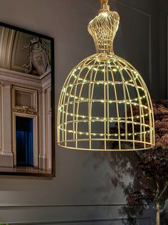 The Lady lamp recalls the silhouette of 19th-century ladies in a structure composed of subtle bronze-effect metallic traits. The playful and refined shape will add the extra wow effect you need. Design by Gabriella Asztalos #luxury #living #LED