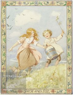 'Jack and Jill' 'Rhymes of Old Times' - Margaret Tarrant