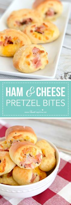 Ham and Cheese Pretzel Bites... these are a perfect appetizer for any party or gathering. They disappear in a flash!