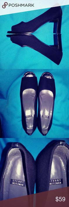 STUART WEITZMAN WOMENS SHOES STUART WEITZMAN PEEP TOE PUMPS GORGEOUS HEEL SIZE 8 GREAT CONDITION Stuart Weitzman Shoes Heels